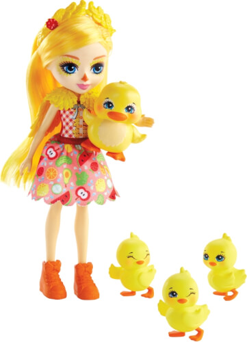 Mattel GJX45 Enchantimals Dinah Duck, Slosh & Familie