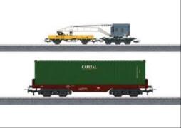 Märklin 44452 H0 Märklin Start up - Wagen-Set Containerverladung