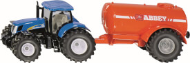 SIKU 1945 FARMER - Traktor mit Ein-Achs-Güllefass, 1:50, ab 3 Jahre