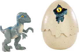 Mattel FMB92 Jurassic World Schlüpfender Dino Velociraptor Blue''