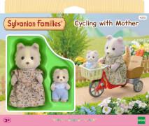 Fahrradfahren mit Mutter