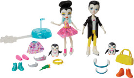Mattel GJX49 Enchantimals Eiskunstläufer Spielset mit Patterson Penguin & Preena Penguin Puppen