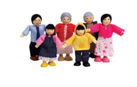 Hape Puppenfamilie Asiatisch