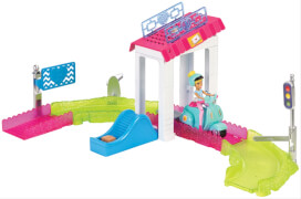 Barbie On The Go Poststation Spielset