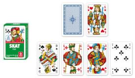 ASS Skat, französisches Bild in Faltschachtel. Kartenspiel