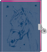 Coppenrath Verlag 94635 Pferdefreunde - Mein Tagebuch mit Schloss, 96 Seiten, Hardcover, blau