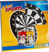 New Sports Kork Dartboard inklusive 6 Pfeilen
